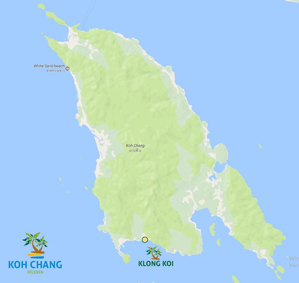 klong koi strand kohchang karte insel strände