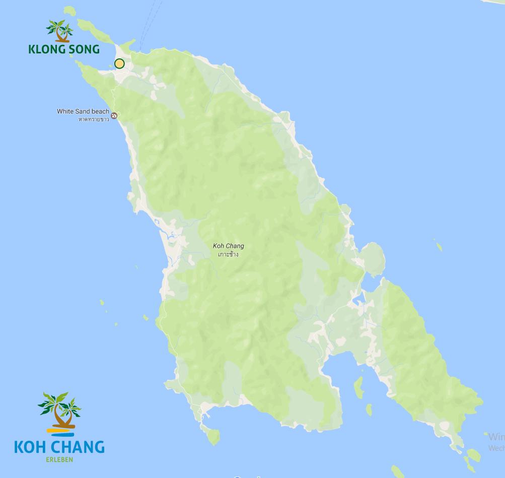 klong song strand koh chang thailand karte