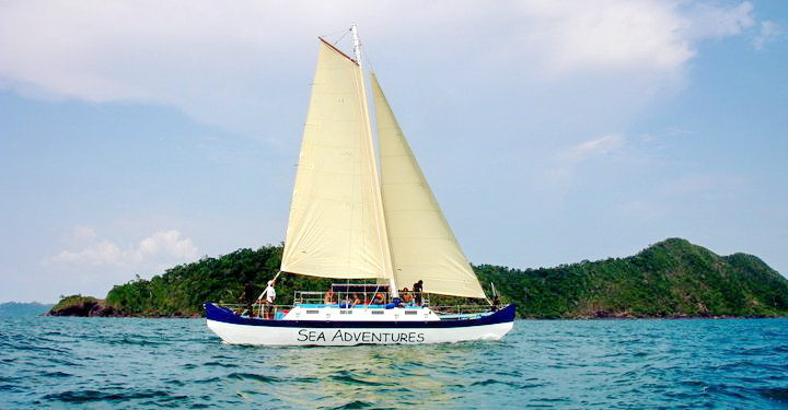 segel tour bei koh chang boot