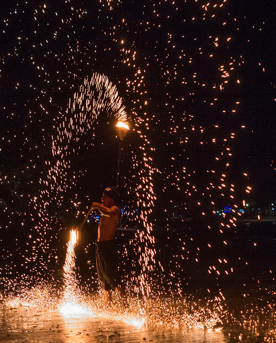 koh chang feuershow thailand